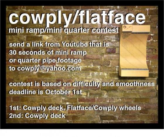 10408071 777753128949557 8994629991966629245 n e1411097997526 Cowply X Flatface   Mniramp Contest