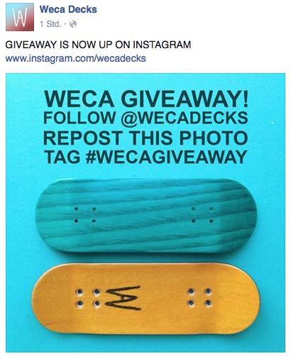 Bildschirmfoto 2014 09 18 um 20.28.46 WECA   Instagram Giveaway